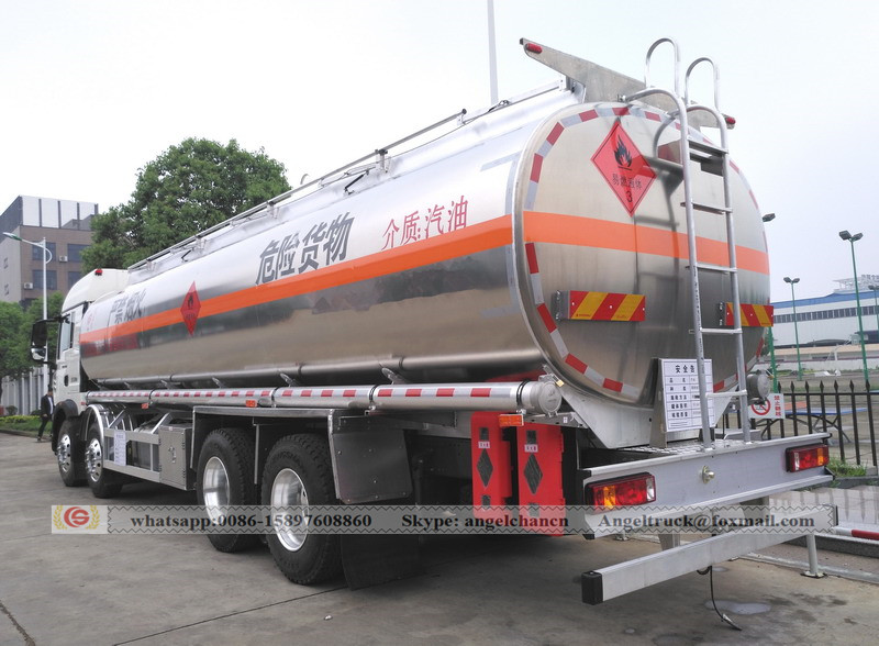 Petrol delivery tank truck
