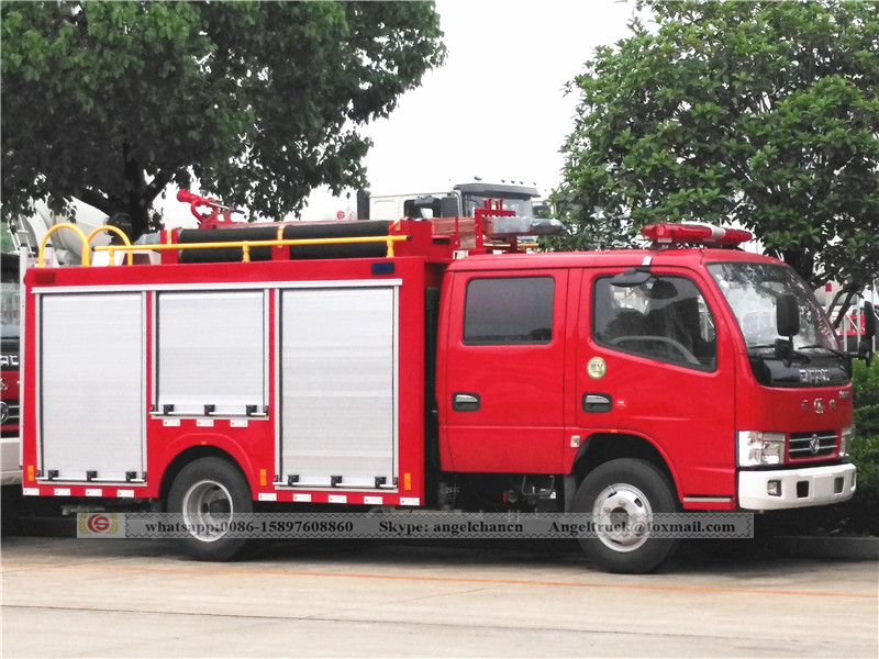 Fire and rescue tank truck