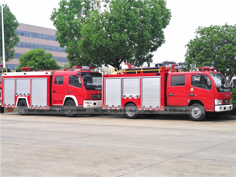Fire fighting tank truck