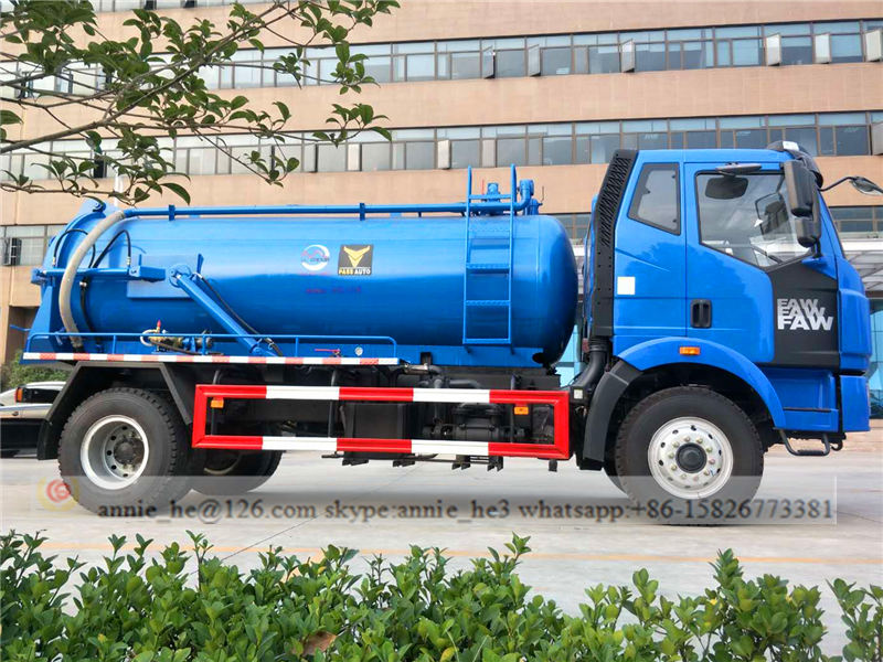 sewage suction truck drawing