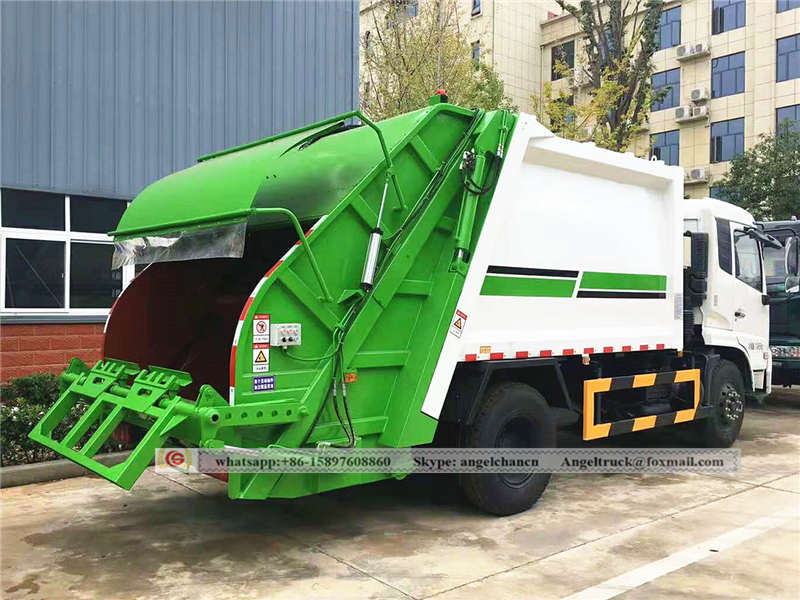 rubbish compactor truck