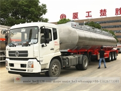 Stainless Steel Fuel Tank Semi Trailer