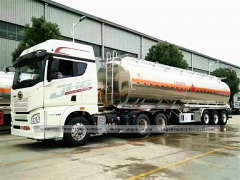 Aluminium alloy fuel tank semi trailer