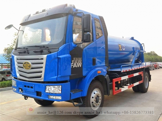 Sewage suction truck on sale