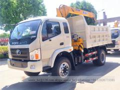 Dump truck with 3.2T crane