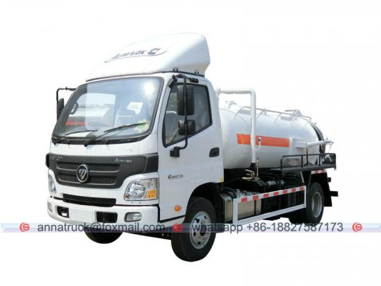 4,000 Liters Foton Sewage Vacuum  Suction Truck